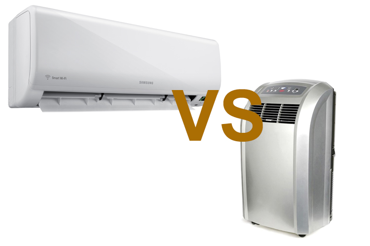 Air conditioner and portable air conditioner
